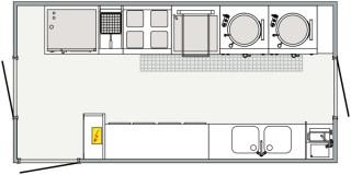 Warme Küche 6 m